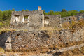 Ruins of Kayakoy, Fethiye Royalty Free Stock Images