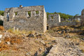 Ruins of Kayakoy, Fethiye Stock Images