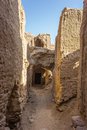 Ruins of kharanagh village iran is a wonderful very old mud brick in an oasis in yazd province the very old ruin has become a Royalty Free Stock Photo