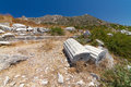 Ruins of knidos datca turkey Royalty Free Stock Images
