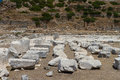 Ruins of knidos datca turkey Royalty Free Stock Photo