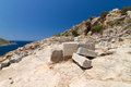 Ruins of knidos datca turkey Stock Photos