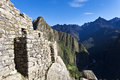 Ruins of the lost inca city machu picchu in the andes in peru south america Stock Photo