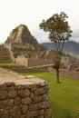 Ruins of Lost Incan City Machu Picchu and Wayna Picchu near Cusco in Peru Royalty Free Stock Photo