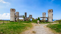 Ruins of the Manoir de Coecilian of the French poet Saint-Pol-Roux / Paul-Pierre Roux in Camaret-sur-Mer, Brittany, France