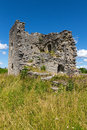 Ruins of a medieval church in gotland sweden on the island Royalty Free Stock Images