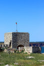 The ruins of a medieval fortress on cape Kaliakra Royalty Free Stock Photo