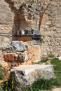 Ruins of monfort castle israel crusader in western galilee Royalty Free Stock Photo