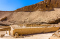 Ruins of the mortuary temple of nebhepetre mentuhotep egypt Royalty Free Stock Image