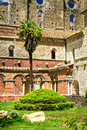 Ruins of an old abbey in tuscany italy Stock Image