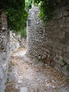 Ruins of old bar stary bar montenegro Stock Photography