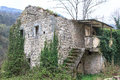 Ruins of old buildings made of stone Stock Photography