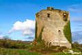 Ruins of old castle near Limerick Royalty Free Stock Photo