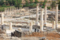 Ruins of the old city ancient roman bet shean israel Royalty Free Stock Image