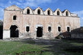 Ruins of old greek orthodox church in kayakoy turkey Royalty Free Stock Image