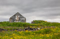 Ruins of an old house located not far from reykjavik city iceland Stock Images