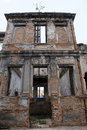 Ruins of old mansion house in downtown sao paulo brazil Royalty Free Stock Photos