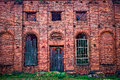 Ruins the of the old orthodox church of red brick the wall Royalty Free Stock Photos