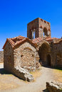 Ruins of old town in Mystras, Greece Stock Photos