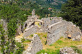 Ruins of old town in Mystras, Greece Stock Photography