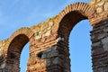 Ruins in old town Nesebar, Bulgaria Royalty Free Stock Photo