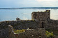 Ruins of old turkish fortress ram near danube river in serbia Stock Photo