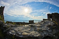 Ruins of old turkish fortress ram near danube river in serbia Stock Photography