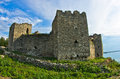 Ruins of old turkish fortress ram near danube river in serbia Royalty Free Stock Photo