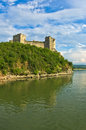 Ruins of old turkish fortress ram near danube river in serbia Royalty Free Stock Images