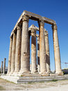 Ruins of Olympian Zeus temple Royalty Free Stock Images