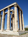 Ruins of Olympian Zeus temple Royalty Free Stock Photos