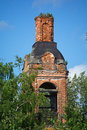 Ruins of the orthodox church ancient Stock Photo