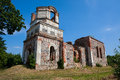 Ruins of orthodox holy transfiguration church in small town rudamina near vilnius lithuania Stock Photography