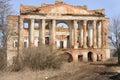 Ruins palace 18 century Stock Photos