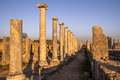 Ruins at perge turkey greek and roman Stock Photography