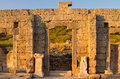 Ruins at perge turkey greek and roman Royalty Free Stock Photos