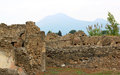 Ruins of pompei and the vesuvius italy city pompeii was an ancient roman town city near modern naples pompeii along with Stock Photos