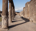 Ruins of pompeii ancient columns Stock Photography