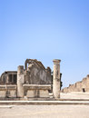 Ruins of pompeii italy ancient columns Royalty Free Stock Photos