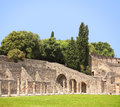 Ruins of pompeii italy summer day Stock Image