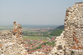 Ruins of the rasnov stronghold from brasov romania Stock Image