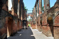 Ruins of residency th century british in lucknow india Stock Images