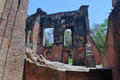 Ruins of residency th century british in lucknow india Stock Image