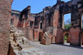 Ruins of residency th century british in lucknow india Royalty Free Stock Images