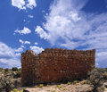 Ruins rim rock house hovenweep national monument Stock Photos