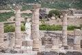Ruins Roman of Baelo Claudia in Bolonia beach Stock Photography