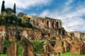Ruins of the Roman Forum, Rome, Italy Royalty Free Stock Image