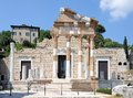 Ruins of the roman temple called Capitolium or Tempio Capitolino in Brescia Italy. Royalty Free Stock Photo