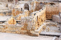 Ruins of Romanesque church in Tarragona, Spain Stock Photos