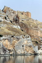 Ruins of rumkale near halfeti in turkey Royalty Free Stock Photography